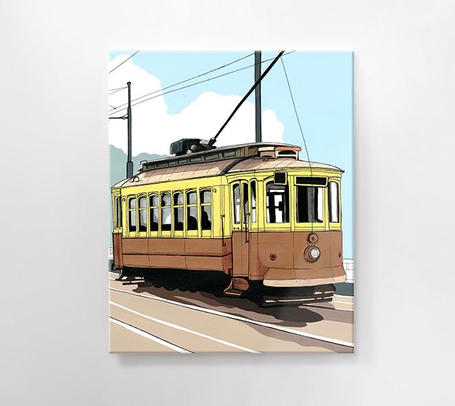 eléctrico da foz Porto